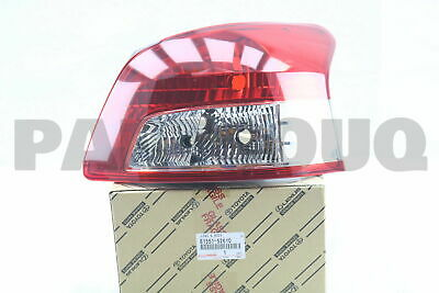 8155152610 Genuine Toyota LENS & BODY, REAR COMBINATION LAMP, RH 81551-52610