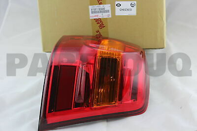 8155160A80 Genuine Toyota LENS & BODY, REAR COMBINATION LAMP, RH 81551-60A80