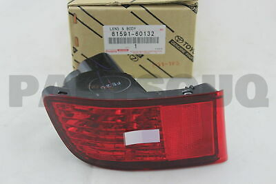 8159160132 Genuine Toyota LENS AND BODY, REAR LAMP, LH 81591-60132