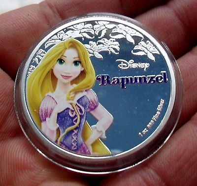 New Zealand 2016 Silver Plate Disney Princess Rapunzel Coin In Capsule