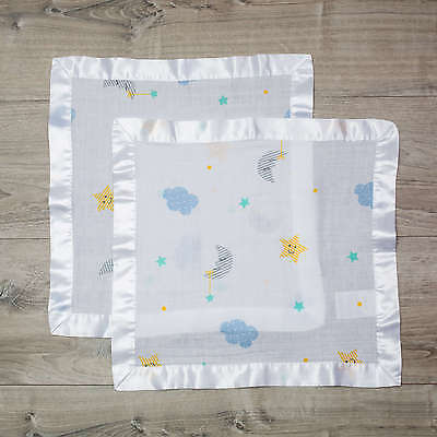 Lulujo Baby Cotton Security Blankets│2 pack│infant blankie