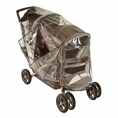 Nuby Deluxe tandem stroller weather shield / Stroller rain cover
