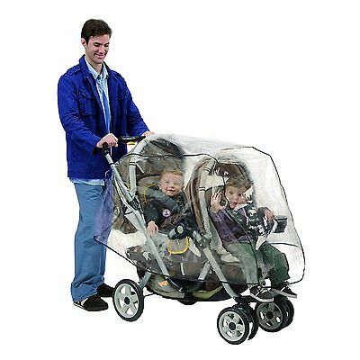 Nuby tandem stroller weather shield / double stroller rain cover