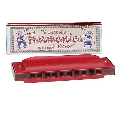 Red Harmonica In Box. Delivery is Free