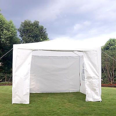3m x 3m Party Weeding Tent Marquee Gazebo Patio Outdoor Waterproof, 4 Sides NEW