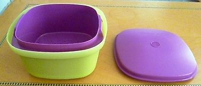 Tupperware Free Shipping New Microwave Multi Server Steamer Dish w/ Strainer 3 L
