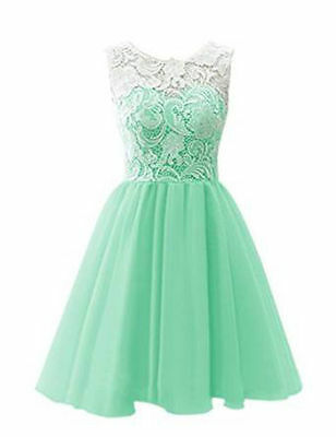 New Short Lace Homecoming Cocktail Prom Evening Gown Ball Party Bridesmaid Dress