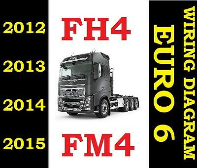 2012 2015 Volvo Fh4 Fm4 Fh Truck Wiring Electric Diagram Service Manual Euro 6
