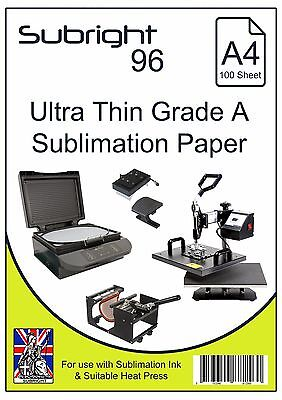 Subright 96 A4 Ultra-Thin Grade A Sublimation Paper