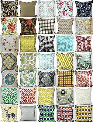 """100% Cotton 20""""x20"""" Decorative Cushion Covers Large selection of patterns"""