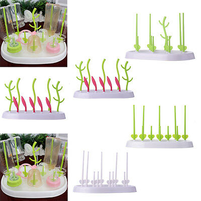 Multi-functional Anti-Bacterial Baby Bottle Drying Rack Easy Storage