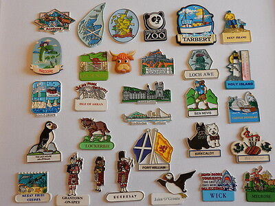 One Selected Rubber Souvenir Fridge Magnet from Scotland