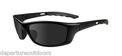 Wiley X P-17 Sunglasses Grey Lens Matte Black Frame P-17M