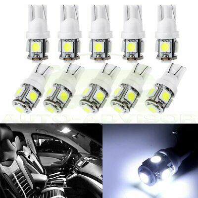 10x White T10 W5W 194 168 LED Car Instrument Dash Panel Light  Bulbs For Chevy