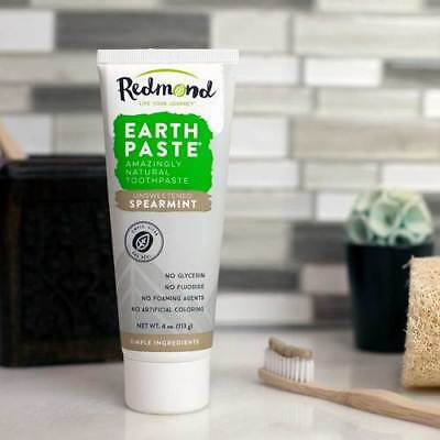 EARTHPASTE Spearmint Flavour 100% Natural Redmond Clay Toothpaste [113g]