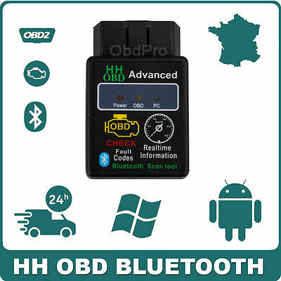 Interface de diagnostic HH OBD BLUETOOTH ELM327 Scanner PC Android Vgate OBD2