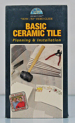 Home Time Ceramic Tile Basics VHS How-To Video Guid Planning Installation
