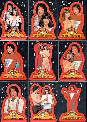 Mork and Mindy - Sticker Trading Card SET (22) - TOPPS 1987 - NM