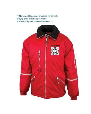 PERSONALIZED FIREFIGHTER RESCUE JACKET Add your name and/or favorite logo FREE