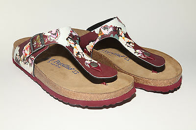 Papillio Gizeh BF $149rrp Painted Bloom Red SOFT FOOTBED BNIB ***CLEARANCE***