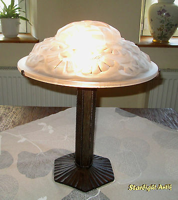 Wonderful French Art Deco Table Lamp 1925 - Signed: Degue