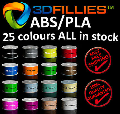 3D Printer Filament ABS PLA 1.75mm 1kg 25 colours Aussie Stock Fast MEL Shipping