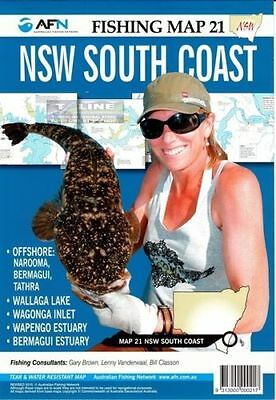 AFN Fishing Maps NSW South Coast (NSW) Map 21 Tear & Water Resistant Map