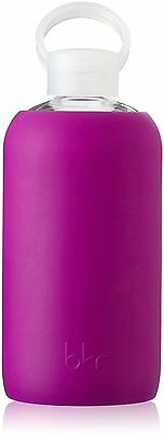 Glass Water Bottle with Soft Silicone Sleeve, BKR, 1 Liter Lola