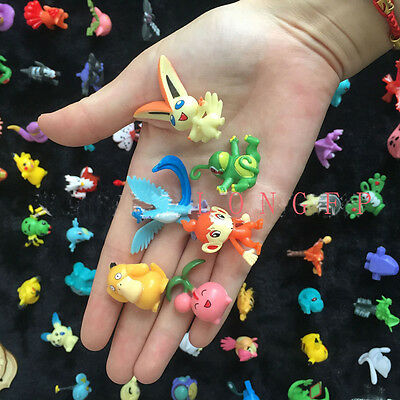 144x Charaters Mixed Lots Pokemon Pikachu Monster Mini Random Pearl Figures Toys