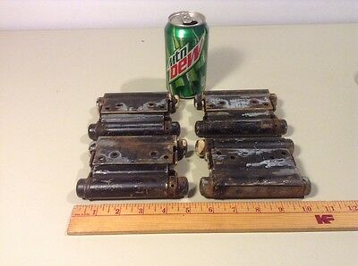 4 Antique Bommer Hinges, Spring Loaded, Double Action Saloon Door