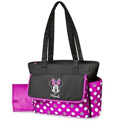 Baby Nappy Bag with Foldable Changing Pad Disney Minnie Mouse Lightweight Travel