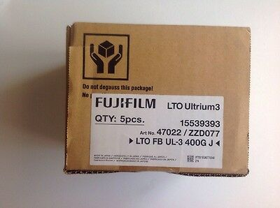 LTO Ultrium 3 Fujifilm 9 Pieces. New,sealed.LTO Data Cartridge 400/800 GB