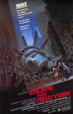 Escape from New York Movie POSTER 27 x 40 Kurt Russell, A, LICENSED NEW