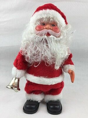 Vintage Working Santa Bell Ringer Made In Taiwan Rings Bell And Plays Music