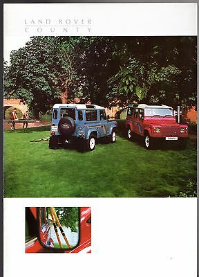 Land Rover County Station Wagon 90 110 1987-89 UK Market Sales Brochure