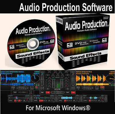 Audio Production Software DVD DJ MP3 Music Mix Edit Recording Audio Effects