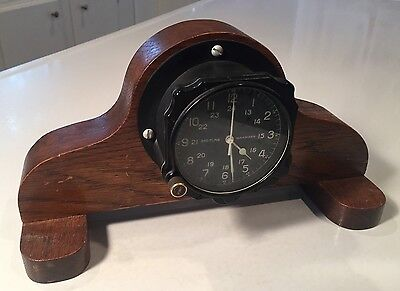 Vintage Breitling Mechanical Aircraft Ship Military Wall Clock Mfg # 118-12-18-W