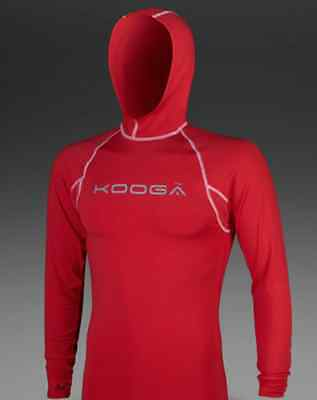 KOOGA Rugby Hooded Power Shirt Red Large Mens