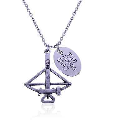 The Walking Dead Necklace Daryl Dixon Crossbow Pendant