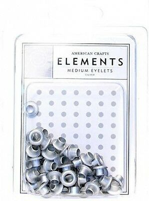 American Crafts Eyelets (Silver) - Medium (0.5cm .) 5 pcs sku# 1850070MA. Delive