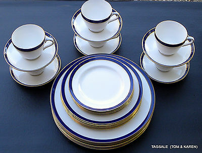CONSUL COBALT by SPODE~ 30 PIECE SET ~ 6 X 5 PIECE PLACE SETTINGS ~ DINNER FOR 6