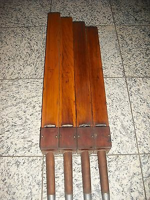 Antique Rare 100+ Year Old Church Organ Pipes Wood Wall Display  32-37""