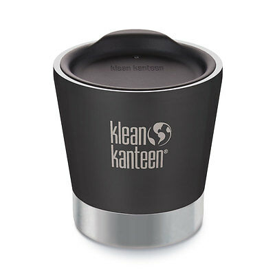 Klean Kanteen 8oz 237ml Insulated Tumbler Shale Black NEW KLEAN COAT