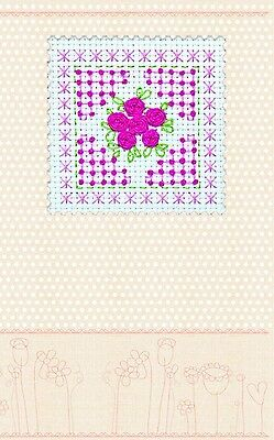 """Postcard cross stitch kit """"Pink tenderness"""" for kids and beginners. Brand New"""