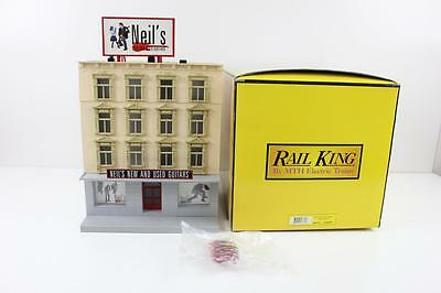 Rail King MTH O scale Neils Guitar Shop 3 story building new (lighting)