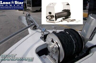 Anchor Winch Boat Deck Roller Lone Star CR195mm 316 SSteel Aust Made Curved Mode
