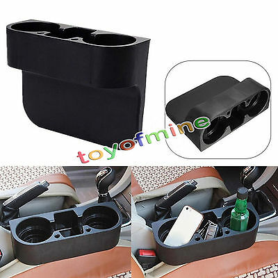 2 Cup Holder Drink Valet Beverage Seat Seam Wedge Car Auto Truck Mount Universal