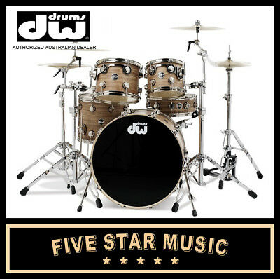 Dw Drums Performance Series 4 Piece Shell Pack Drum Kit Ebony Stain Gloss - New