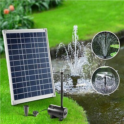 NEW 1500L/h 20W Solar Power Outdoor Garden Fountain Pond Submersible Water Pump