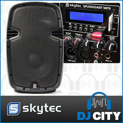 "Skytec SPJ-1000ABT 10"" PA Powered Speaker 400W with Bluetooth & USB MP3 Player"